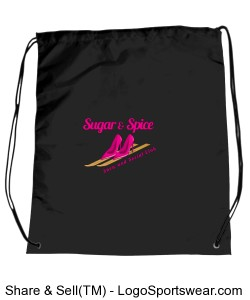 Black Logo Drawstring Sportpack Design Zoom