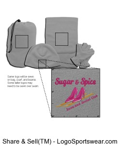 4-in-1 Grey Fleece Travel Set Design Zoom