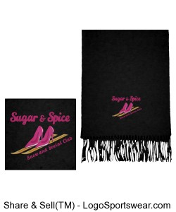 Black Wool Scarf Design Zoom